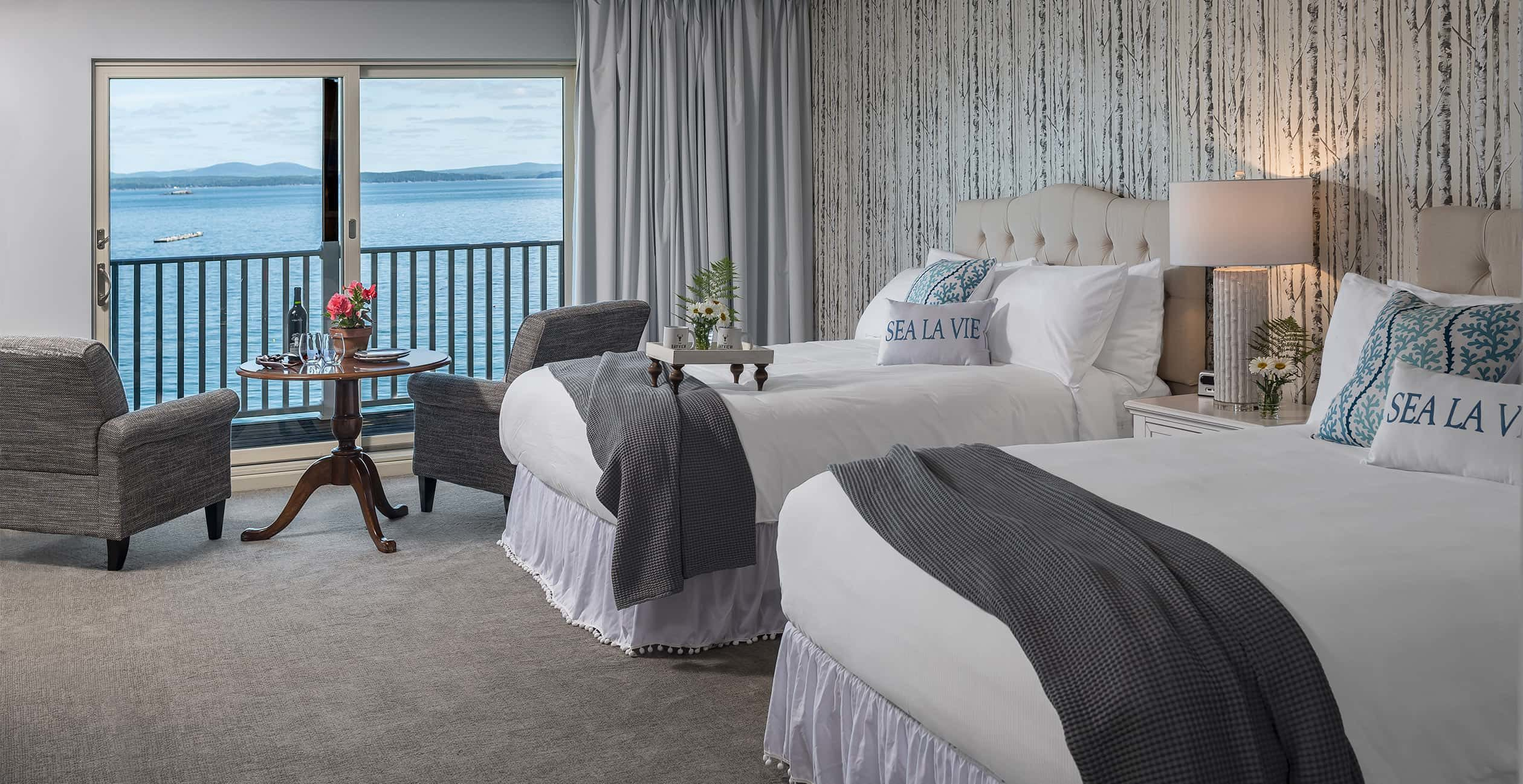Two Queen Beds in a guest room at our Acadia National Park hotel