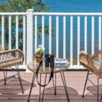 Two chairs on private ocean view deck