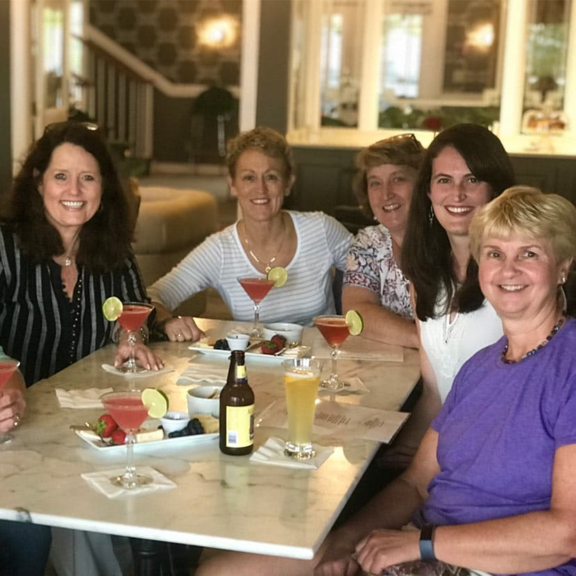 Women Enjoying Happy Hour at Our Bar Harbor Bar