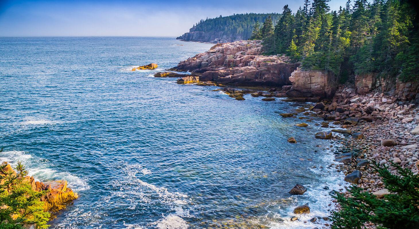 Ocean Shoreline on Romantic Getaway from Boston